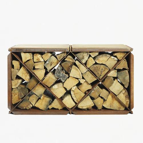 RB73 Bloxx Logstore with Wooden Tops