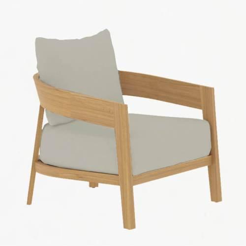 Churchill Lounge Armchair teak stone