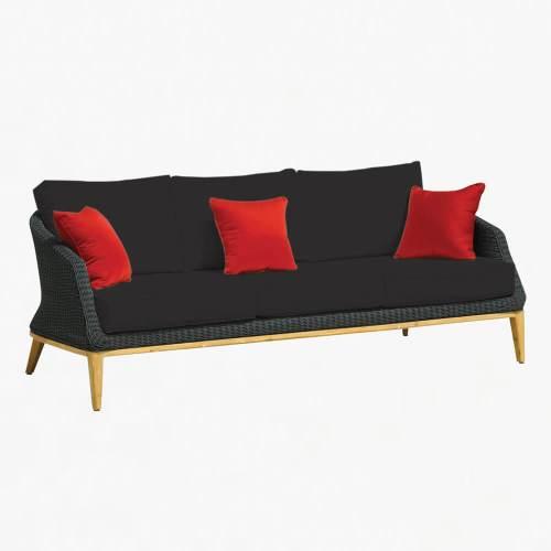Grace 3str sofa ebony slate