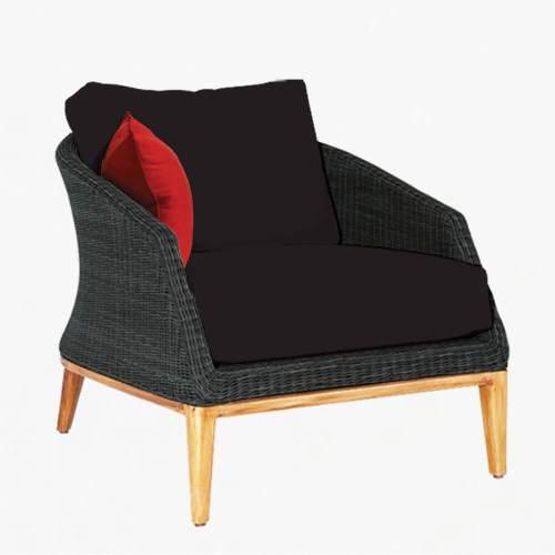 Grace armchair ebony slate