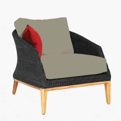 Grace armchair ebony stone