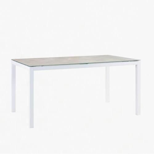 ocean 150x100cm dining table white stone