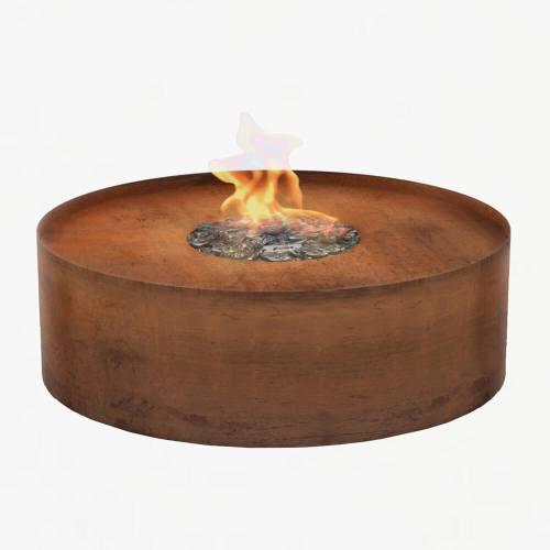 planika galio round firepit corten