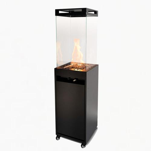 planika lighthouse outdoor gas fire black