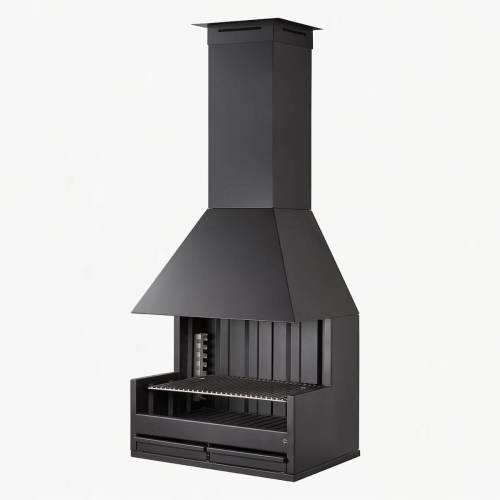rocal palma 75 charcoal grill inside