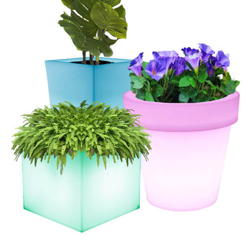solar plant pots