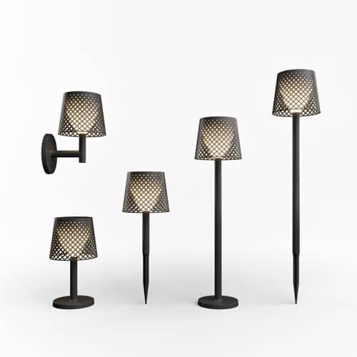 greta lamps range black