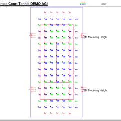 Measurement Of Tennis Court With Diagram 2004 Dodge Ram 1500 Parts Luxplot Design Lighting