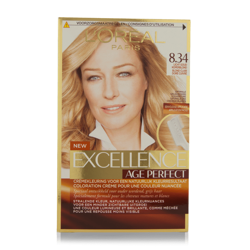 L'Oreal Excellence Age Perfect Hair Color 8.34 1 st