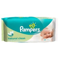 Pampers Natural Clean Baby Wipes 64 pcs - 1.25