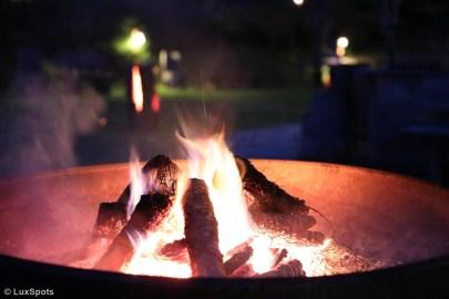 Feuerschale vor dem Gannerhof in Osttirol