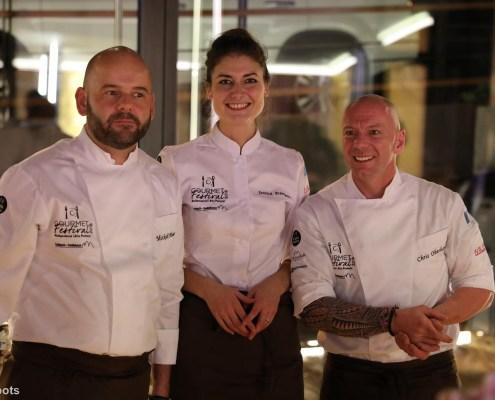 Chris Oberhammer zusammen mit Jessica Préalpato und Mickaël Pihours