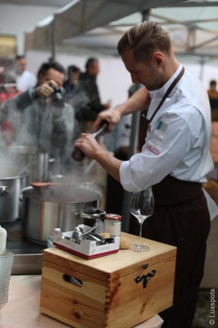 Werner Wibmer kocht auf dem Klaudehof in Toblach beim Gourmetfestival Hochpustertal 2018
