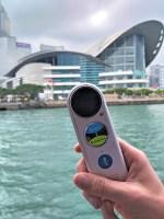 Der Langie-Dolmetscher in Hong Kong