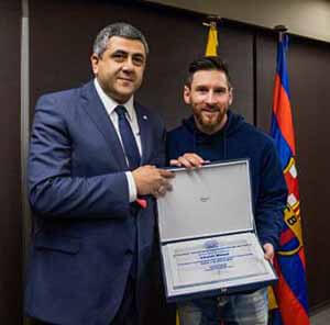 Messi Ambassador UNWTO - Luxuria Tours & Events