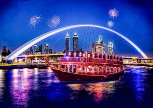 Dubai Water Canal Dhow Cruise - Luxuria Tours & Events