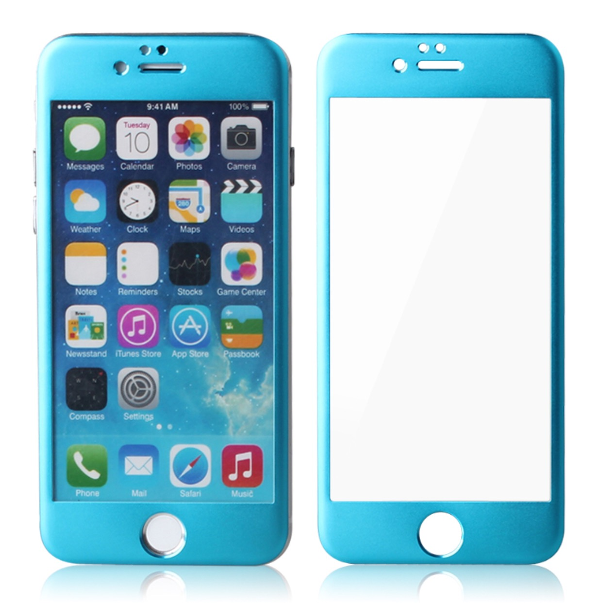 Bold Color Titanium Full Front Glass Screen Protector IPhone 6