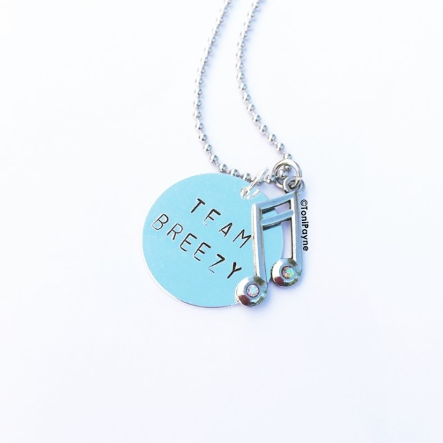 Team Breezy Chris Brown Handstamp Custom Jewelry