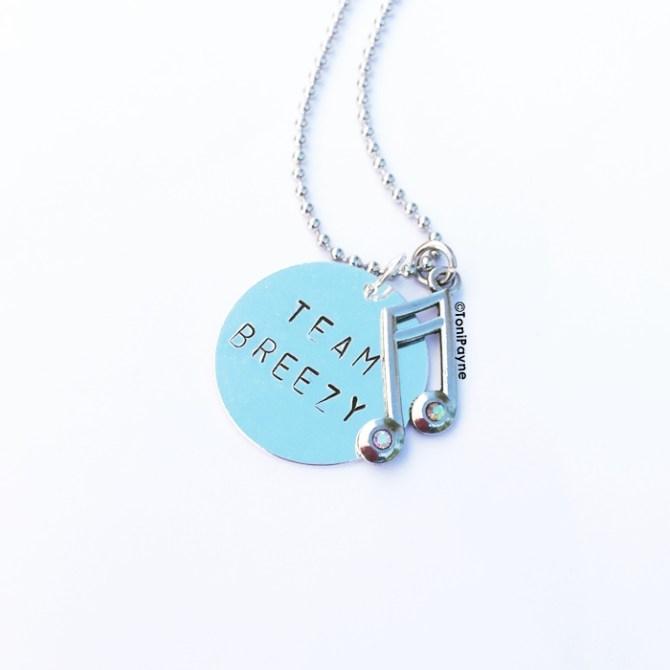 Team Breezy Chris Brown Handstamp Custom Jewelry