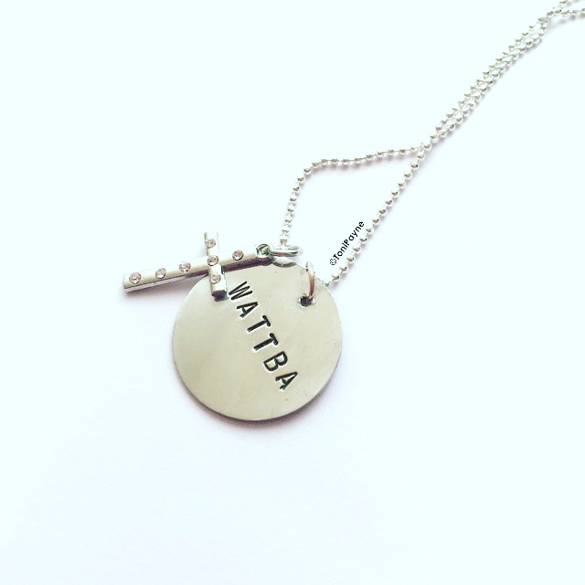 WATTBA HANDSTAMPED NECKLACE