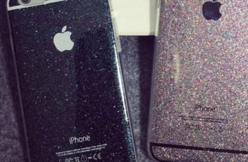 glitter iphone case black