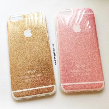glitter iphone case gold pink 2