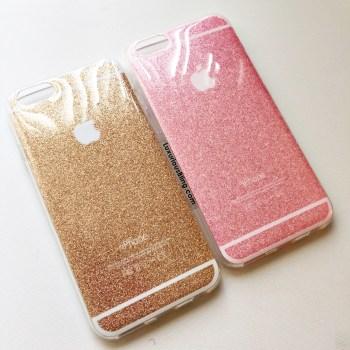 glitter iphone case gold pink