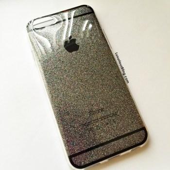glitter iphone case grey