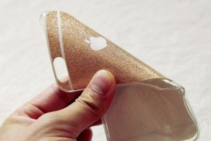 glitter iphone case hand view