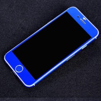 matte iphone skin blue front