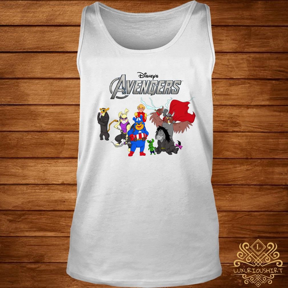 Disney Avengers Winnie the Pooh style tank-top