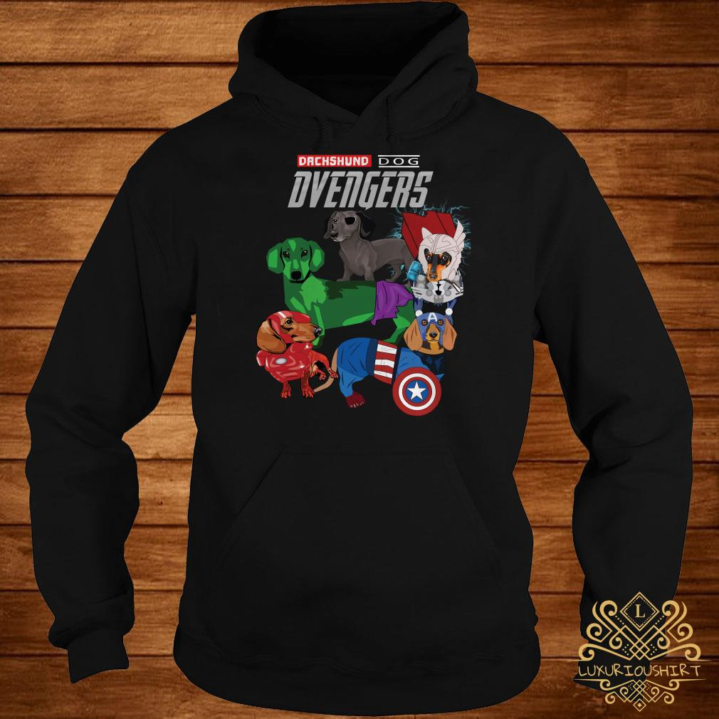 Dvengers Dachshund dog Avengers hoodie