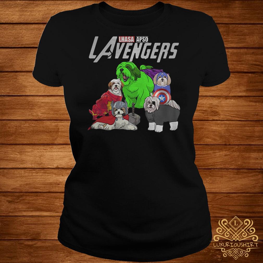 Marvel Avengers Lhasa Apso LAvengers ladies tee