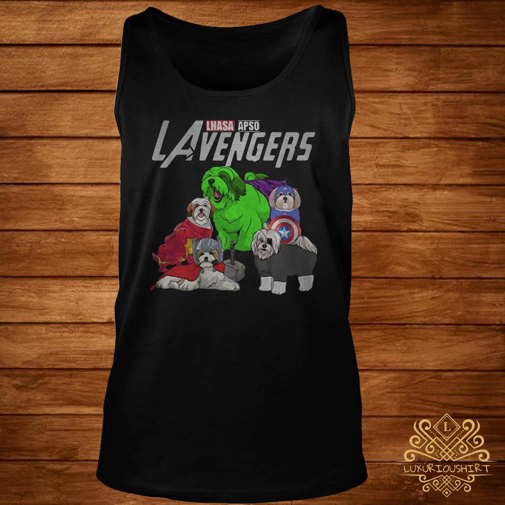 Marvel Avengers Lhasa Apso LAvengers tank-top