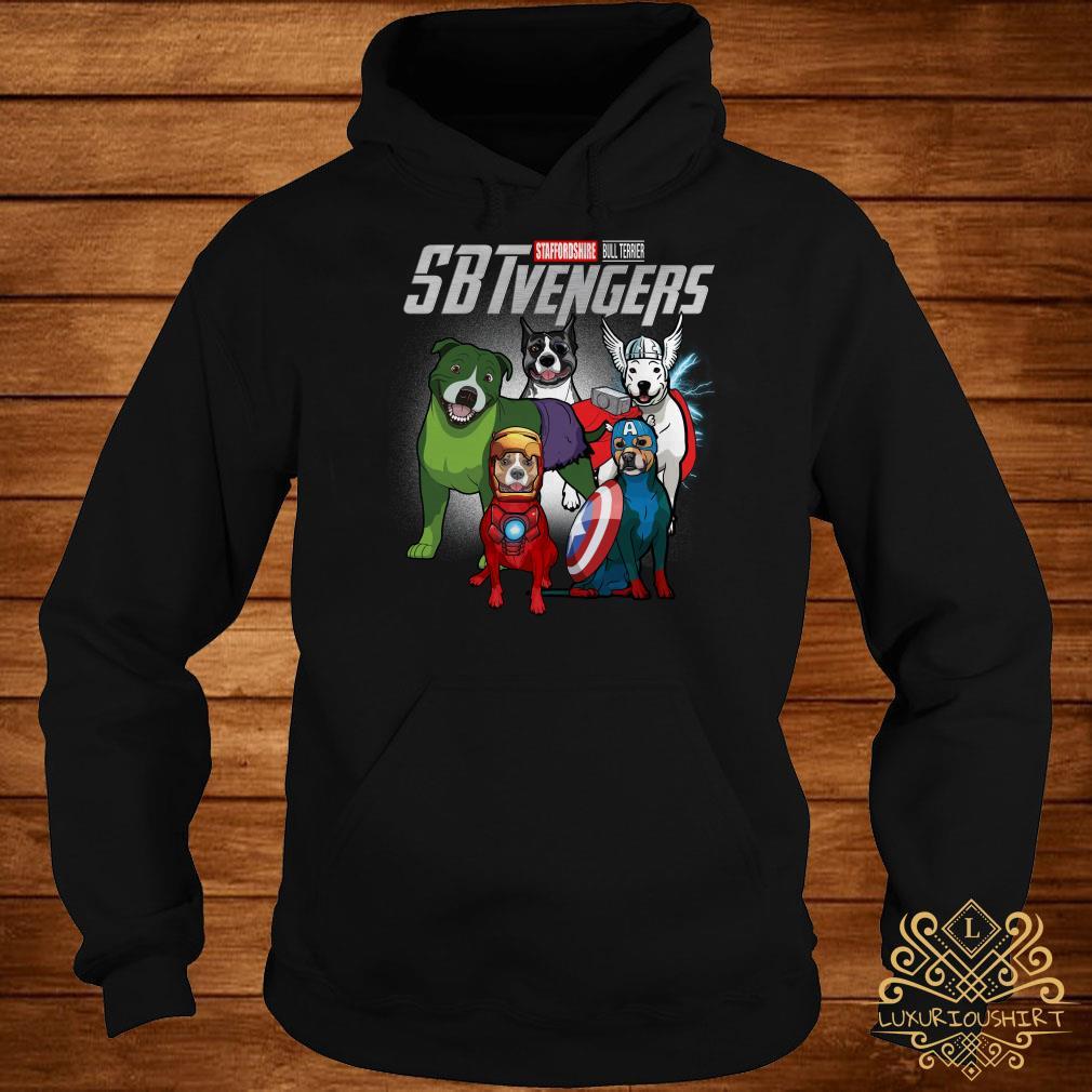 Marvel Avengers Staffordshire Bull Terrier SBTvengers hoodie