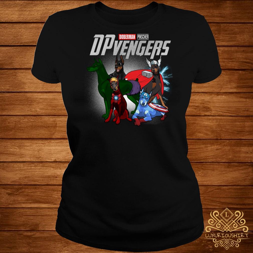 Marvel Doberman Pinscher DPvengers ladies tee