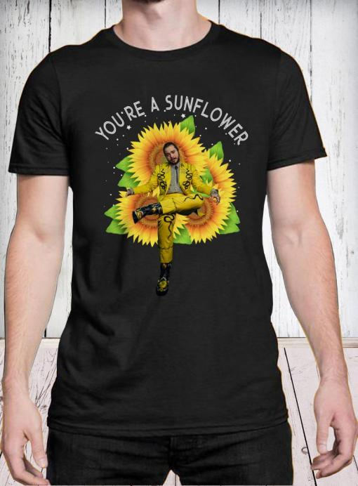 Post Malone you're a sunflower shirt