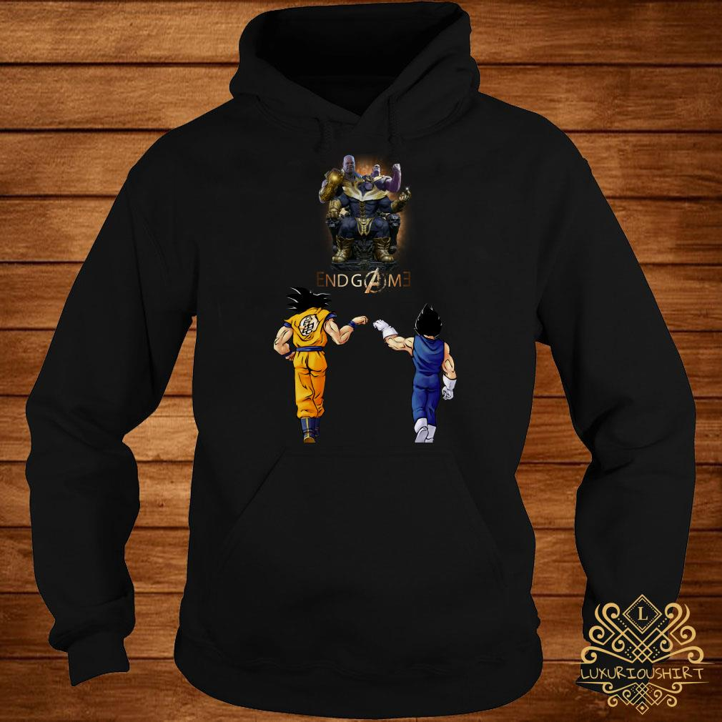 Thanos endgame Goku and Vegeta hoodie