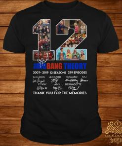 12 years of the Bigbang Theory Thank you for the memories shirt