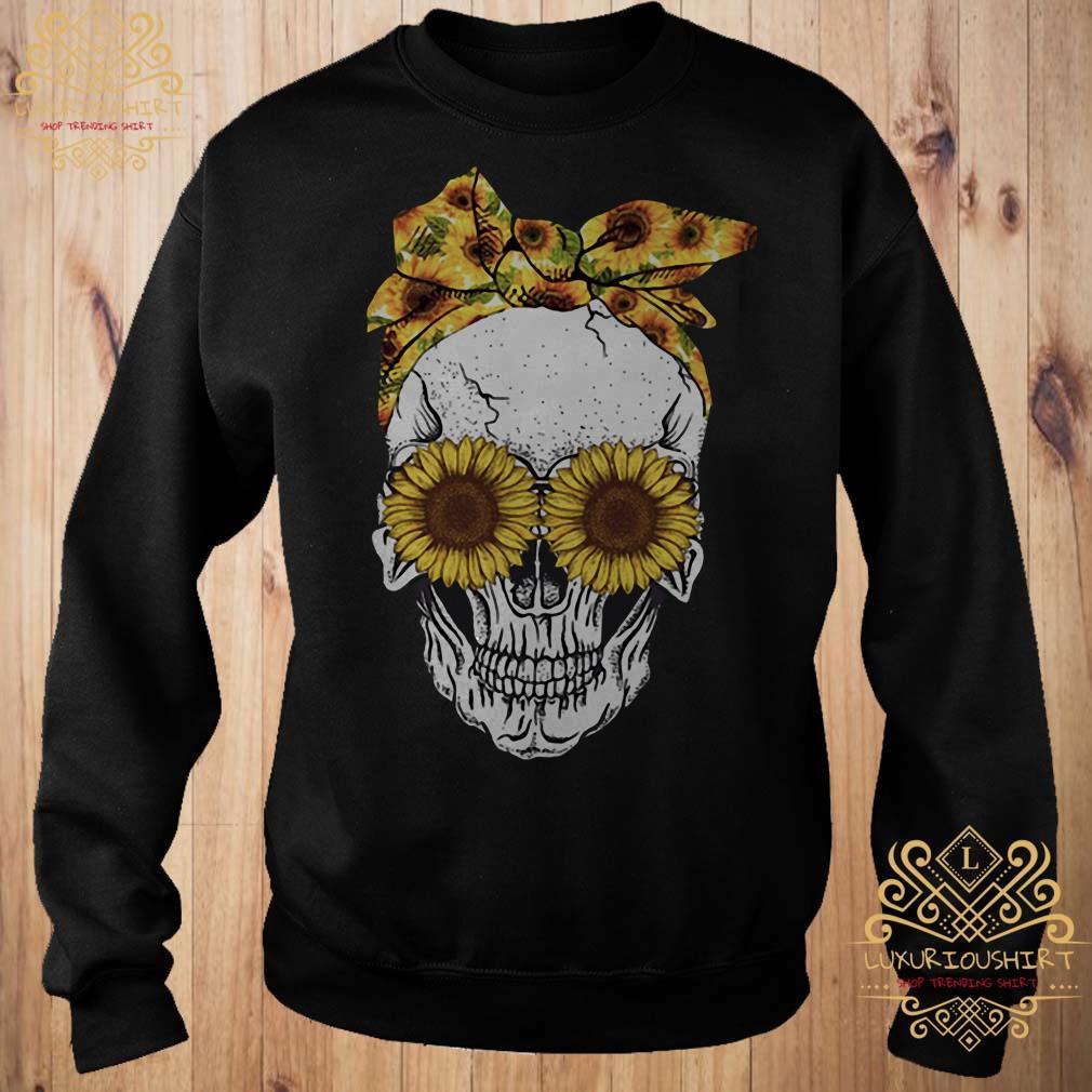Skull sunflower sweater