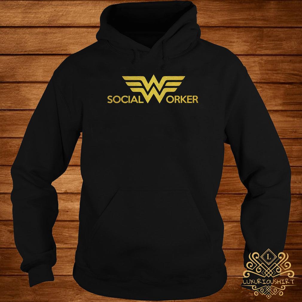 Social worker Wonder Woman logo hoodie