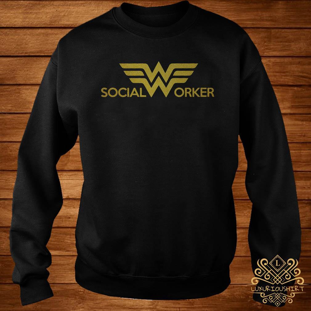 Social worker Wonder Woman logo sweater