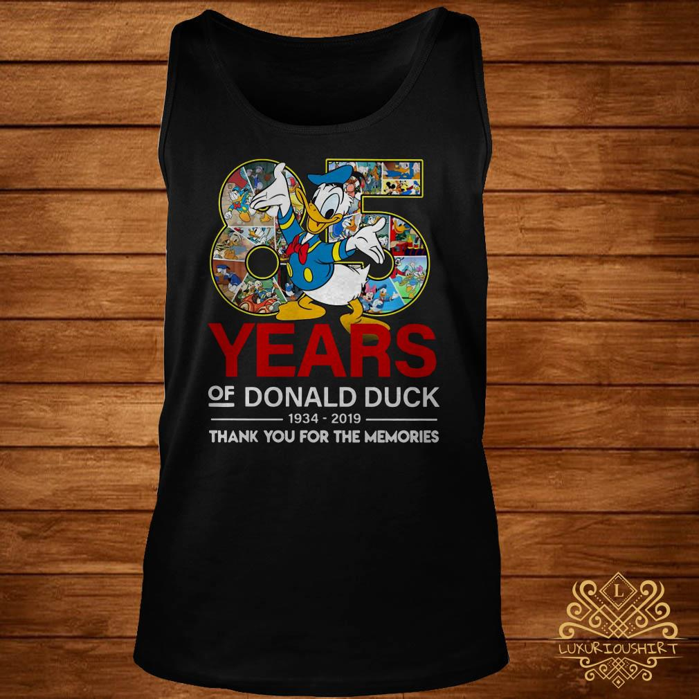 85 years of Donald duck 1934-2019 thank you for the memories tank-top
