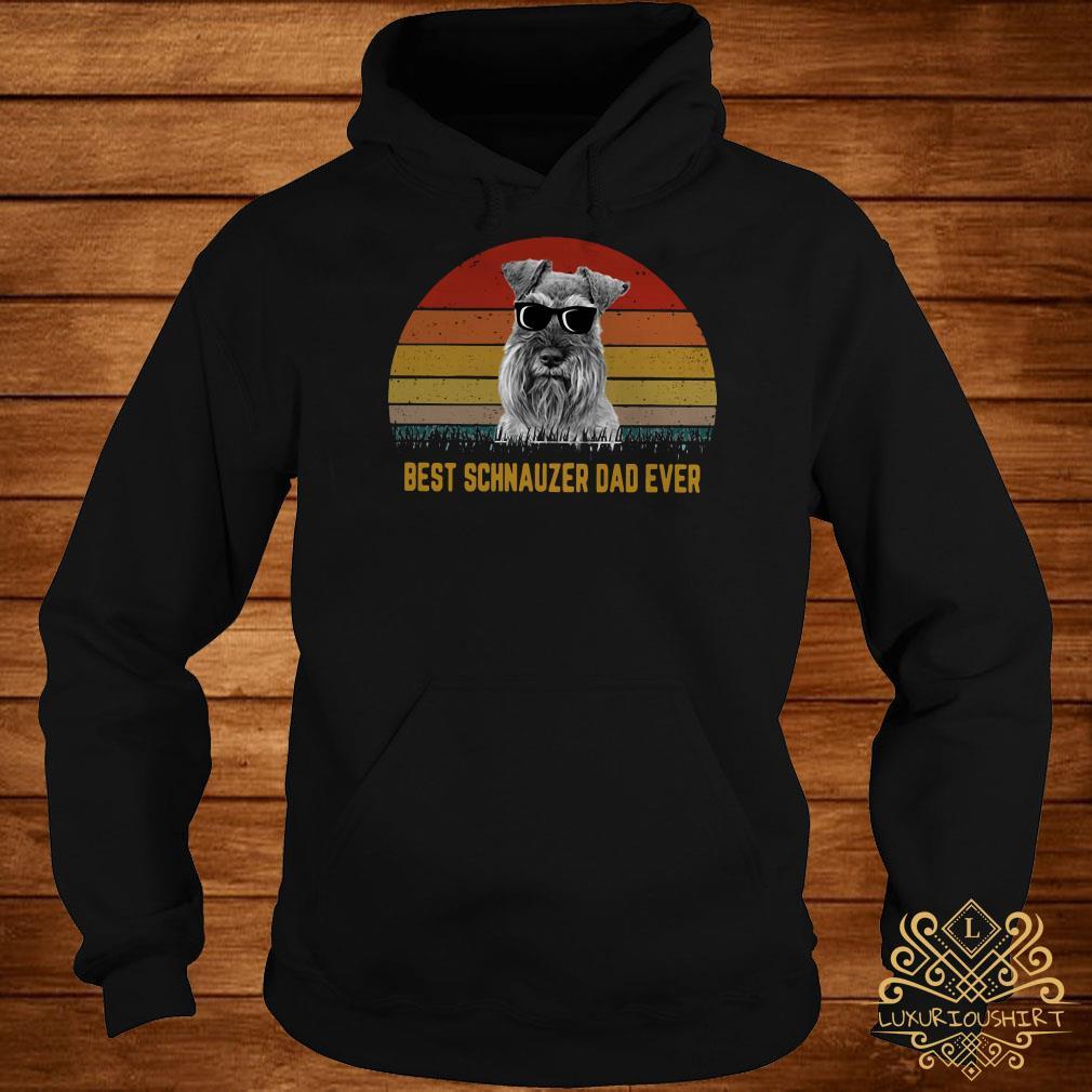 Best Schnauzer dad ever sunset hoodie
