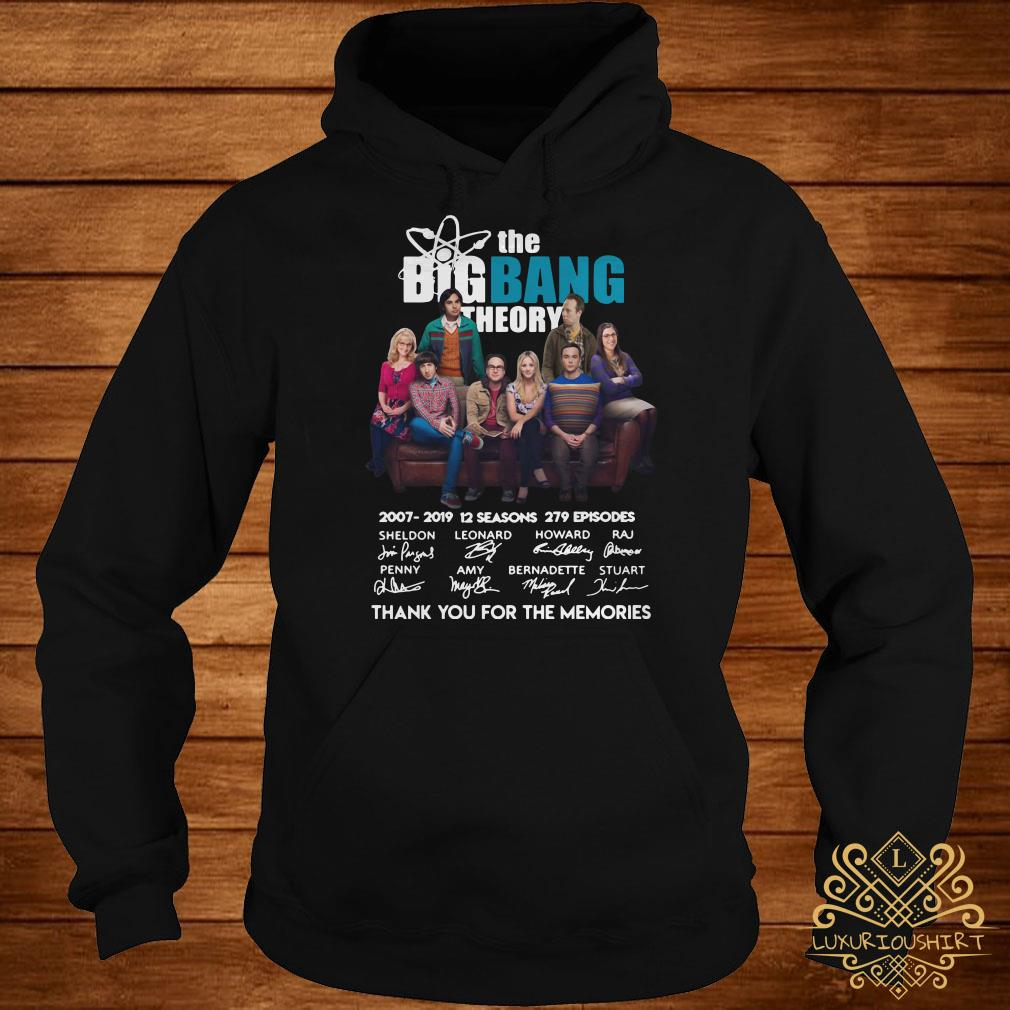 The Bigbang Theory 2007-2019 12 seasons 279 episodes thank you for the memories hoodie