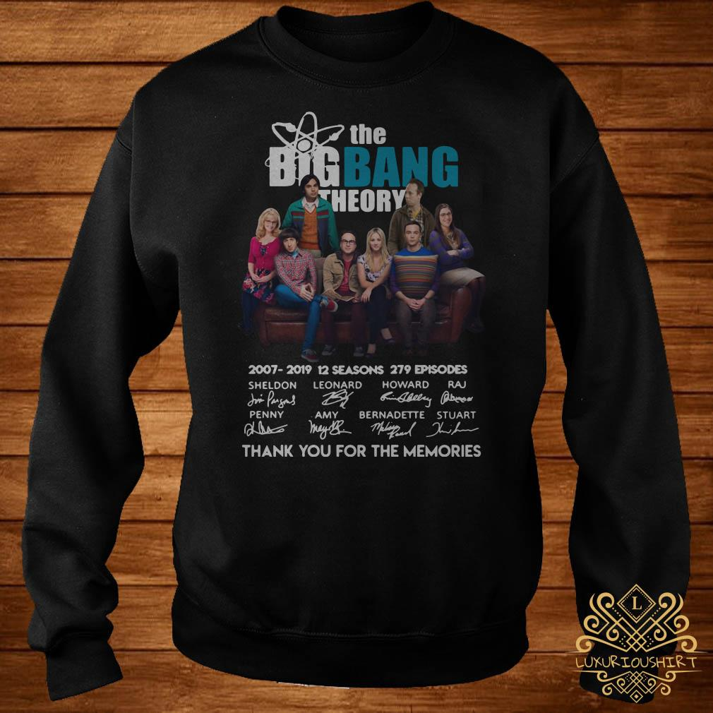 The Bigbang Theory 2007-2019 12 seasons 279 episodes thank you for the memories sweater
