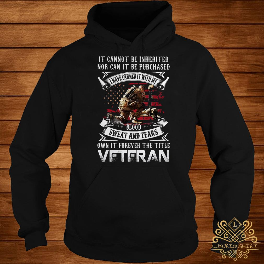 It cannot be inherited nor can it be purchased veteran hoodie