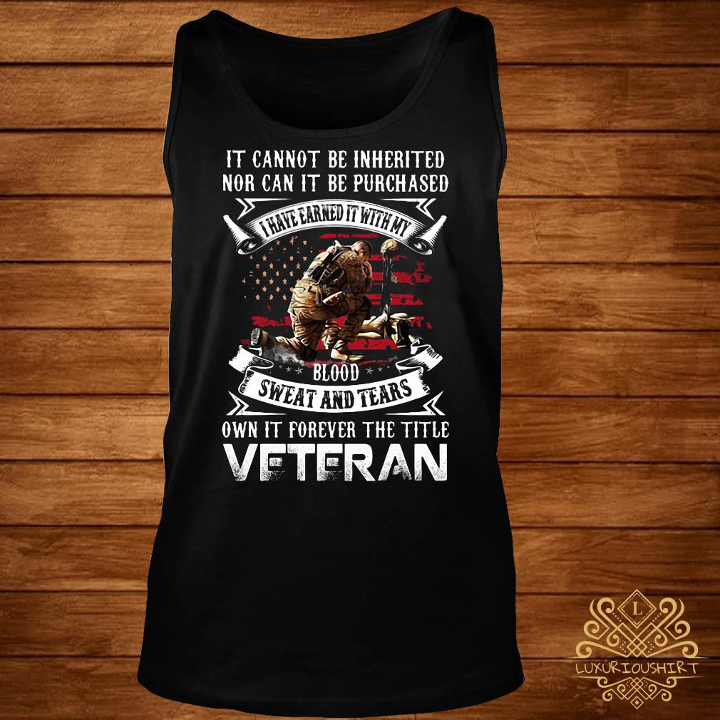 It cannot be inherited nor can it be purchased veteran tank-top