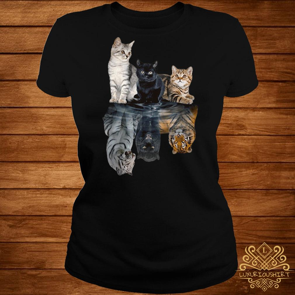 Cats always believe in yourself ladies tee