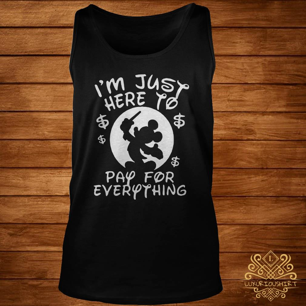 Disney Mickey I'm just here to pay for everything tank-top